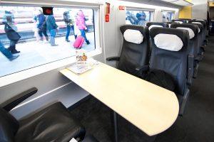 Дополнительные услуги в вагоне бизнес-класса