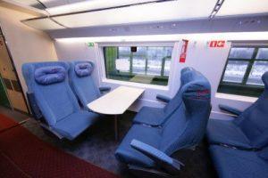 Вагоны эконом-класса в поезде Сапсан